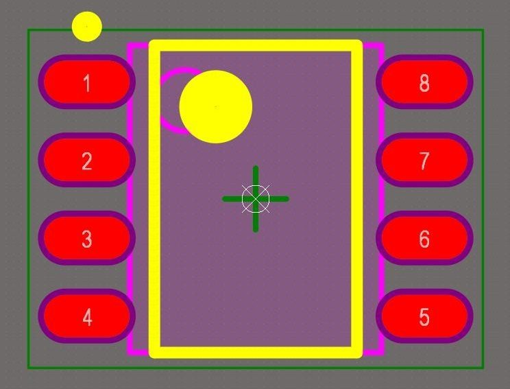 PCB footprint checklist for layer assignments in CAD models