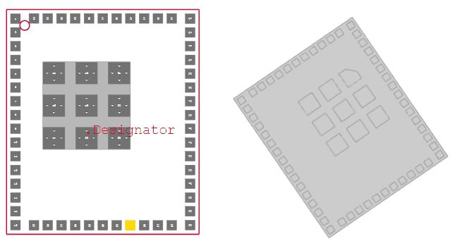 CC3235MOSDF component footprint library