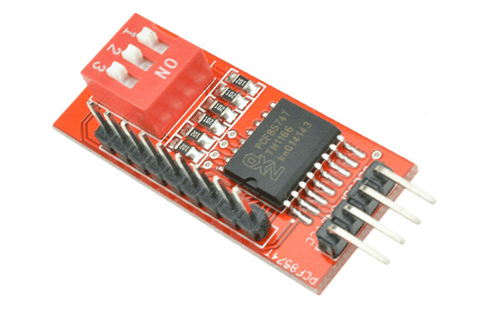 Arduino I2C-to-GPIO bus expander and PCF8574