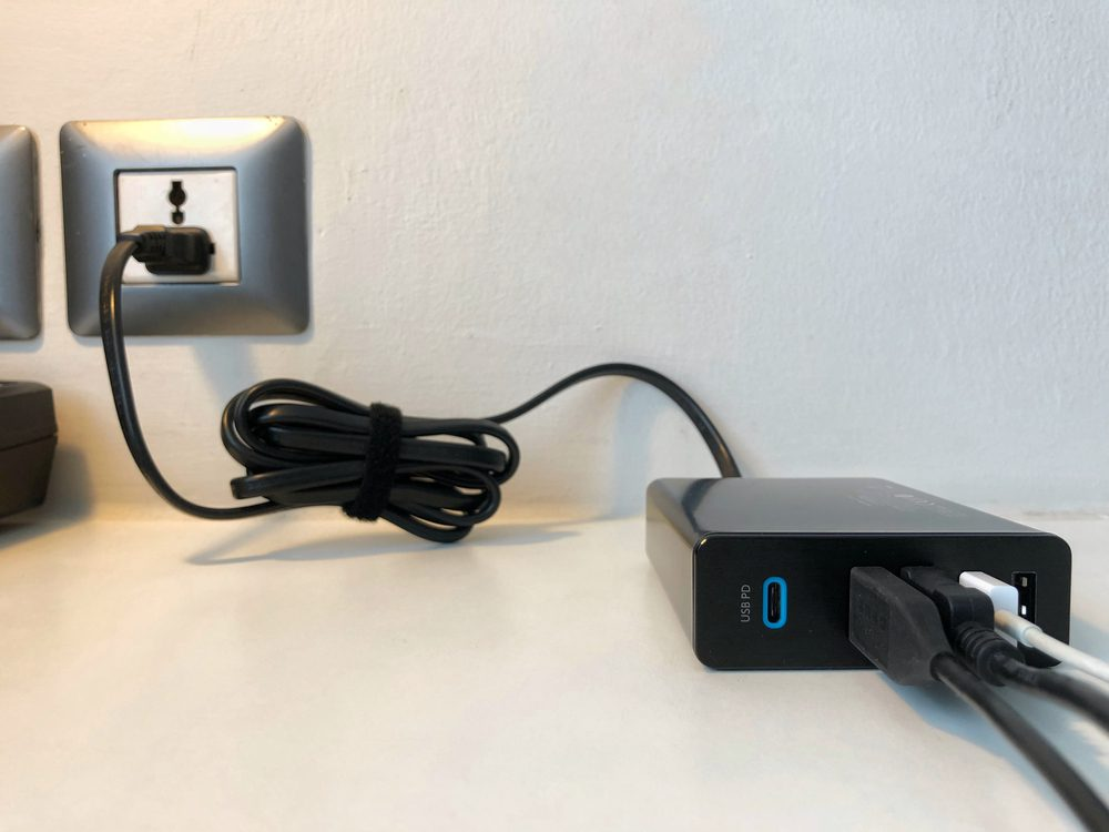 A USB-C charging hub.
