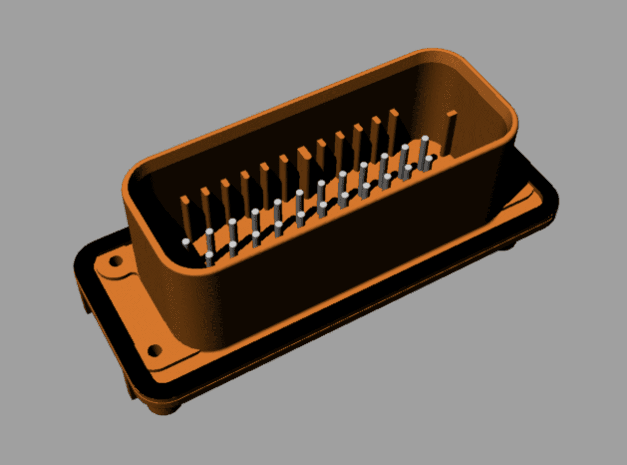 A pin connector model.