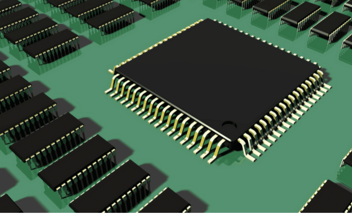 An integrated circuit model.