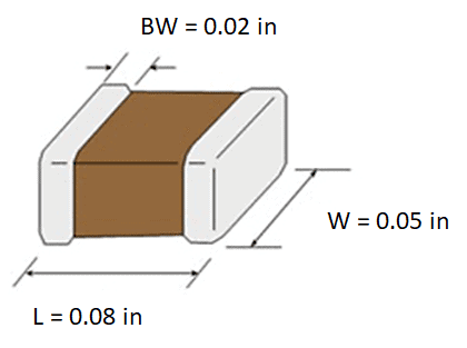 0805 capacitor datasheet package size