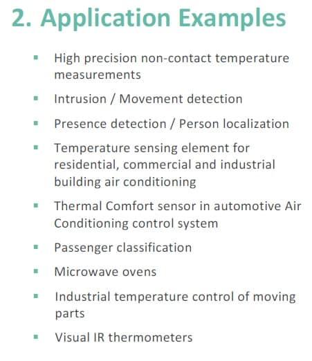 MLX90640 applications