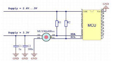 Circuit design with MLX90640