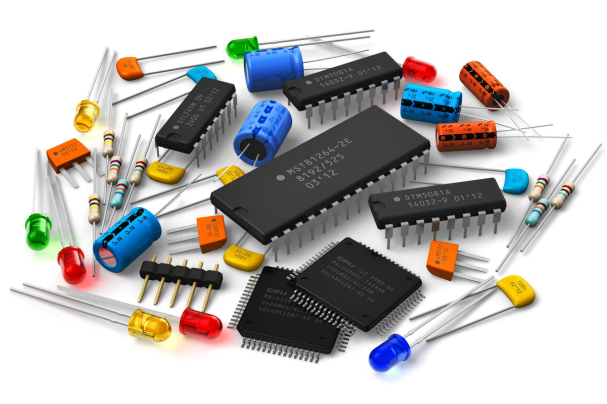 Example of procured PCB components