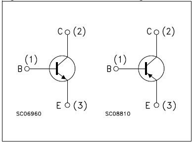 Complementary schematics of the TIP3055 and TIP2955