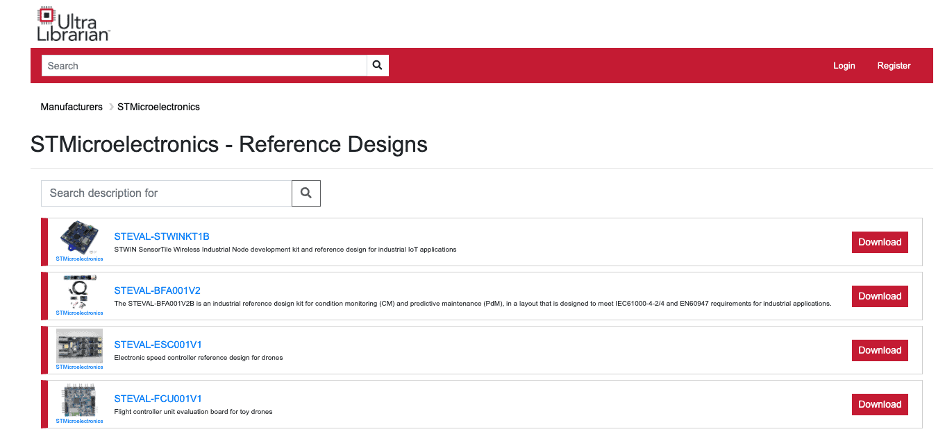 STMicroelectronics reference designs