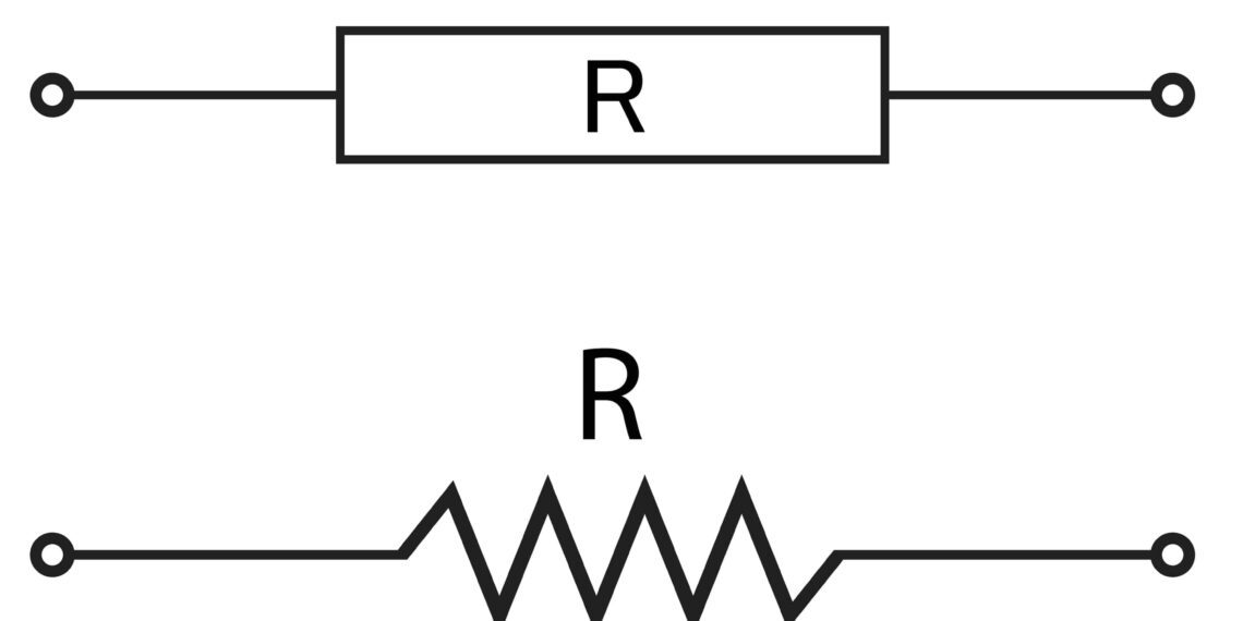 Electronic symbol for the resistor